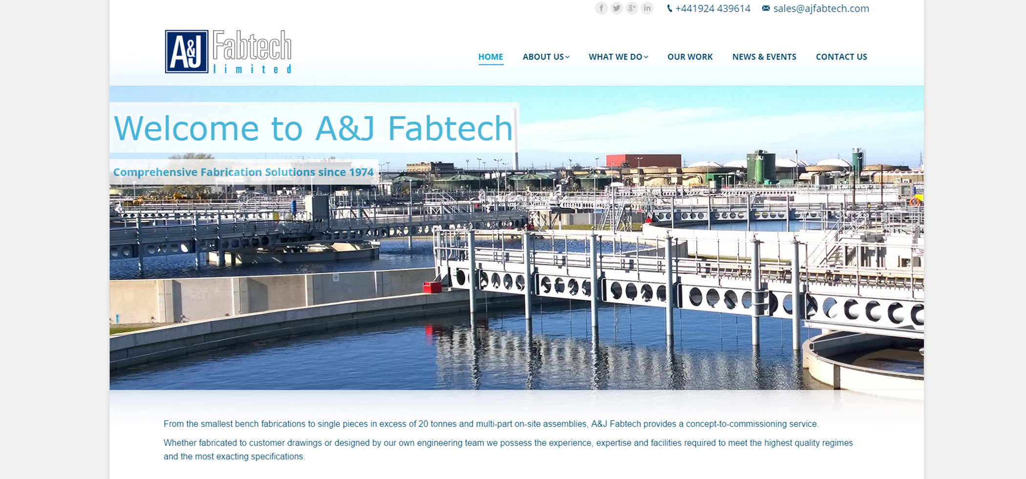 A&J Fabtech launches new intuitive website