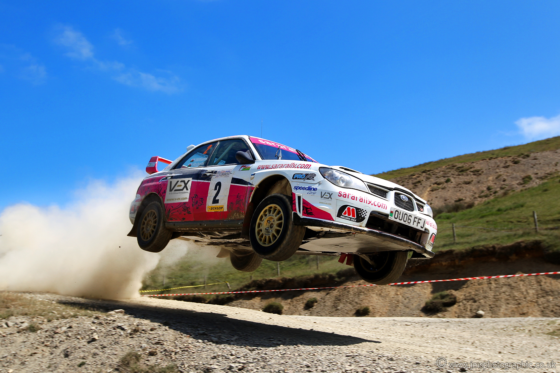 V-Ex Sponsors #1 British Female Rally Driver Sara Williams for Wales rally GB 2014