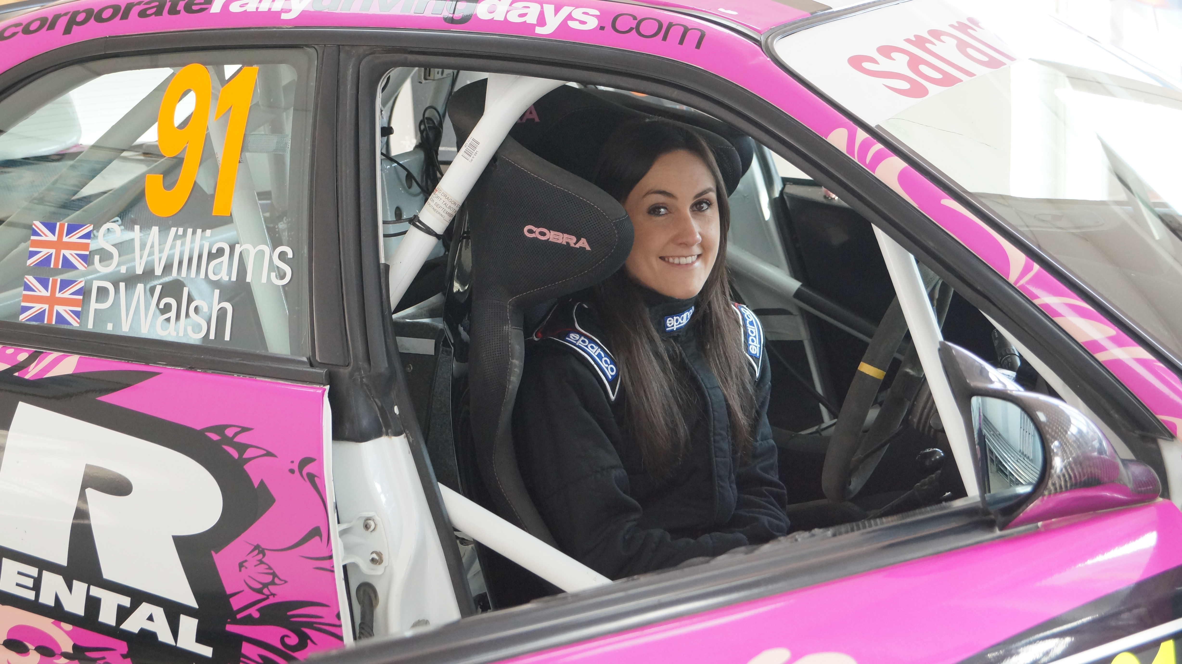 Sara Williams takes on tarmac at the Tyneside Stages Rally 2015