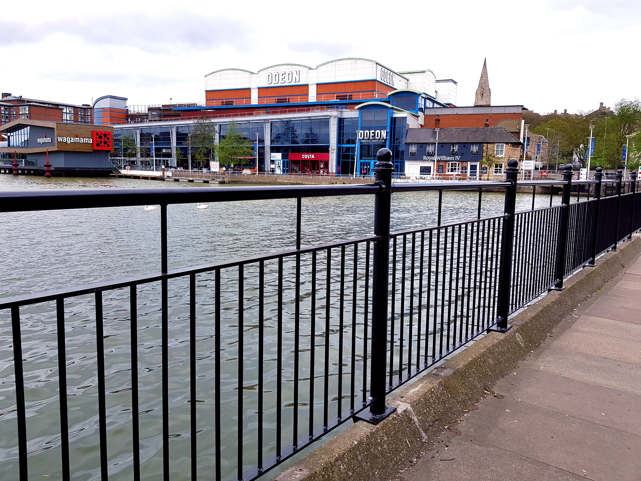 ECS on hand to deliver new Brayford Wharf pedestrian rails