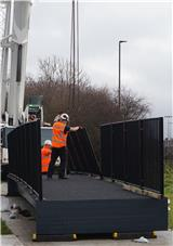 ECS Engineering Services installs FRP bridge to span the River Brent