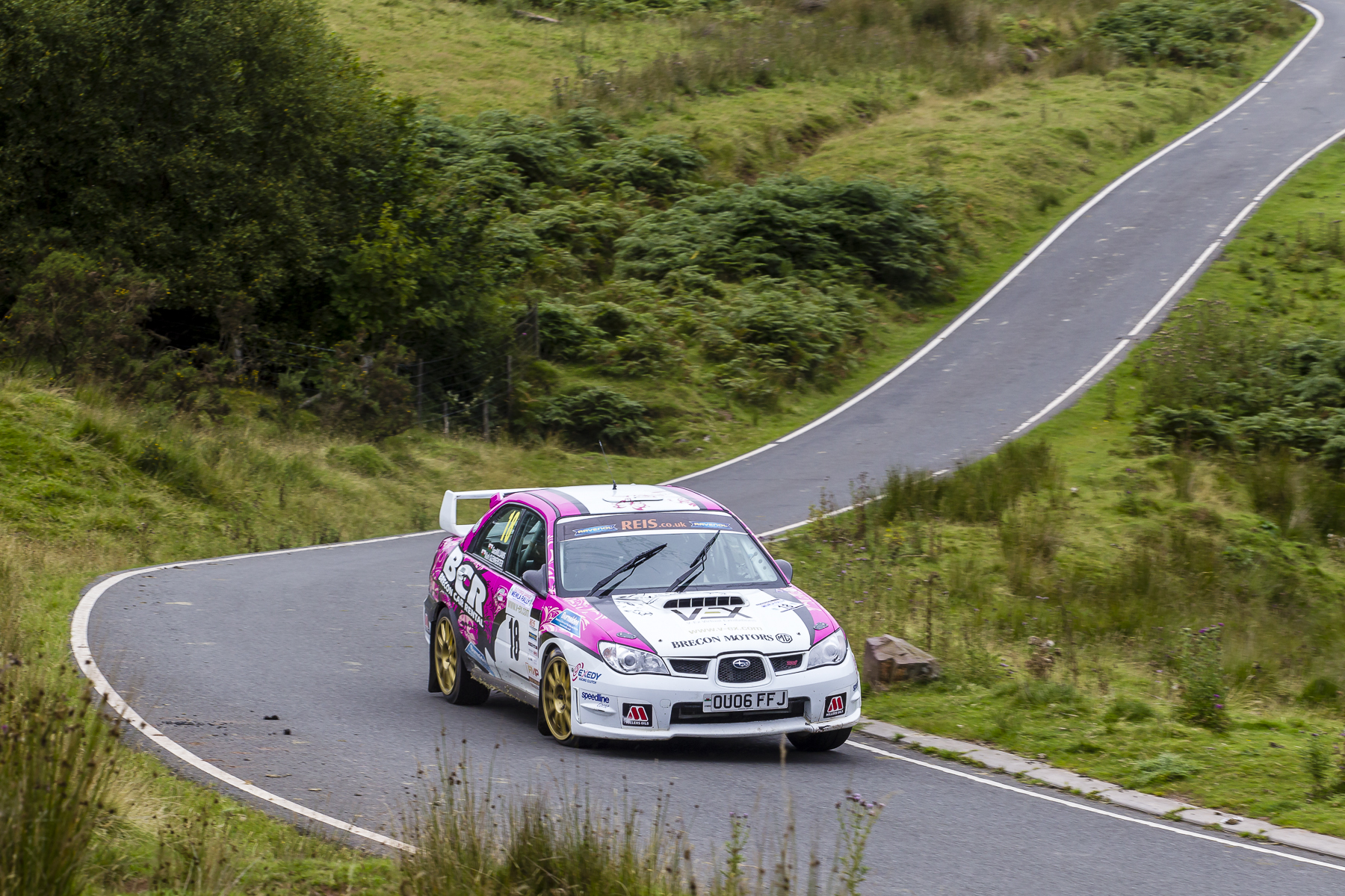 Sara Williams keeps up the pressure at the Mewla Rally 2015