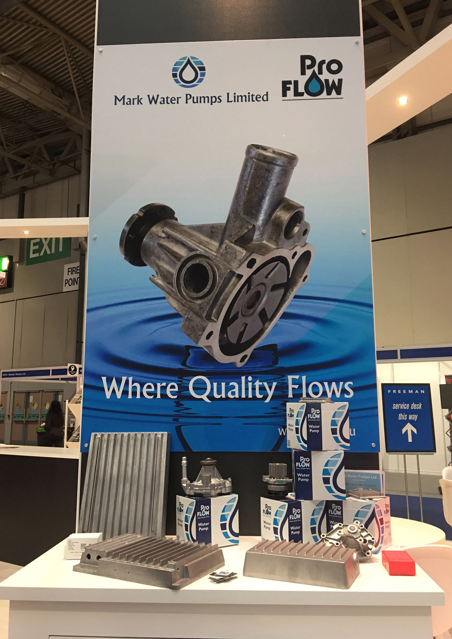 Mark Water Pumps and Mark Exhaust Systems bring OE quality components to Automechanika 2018