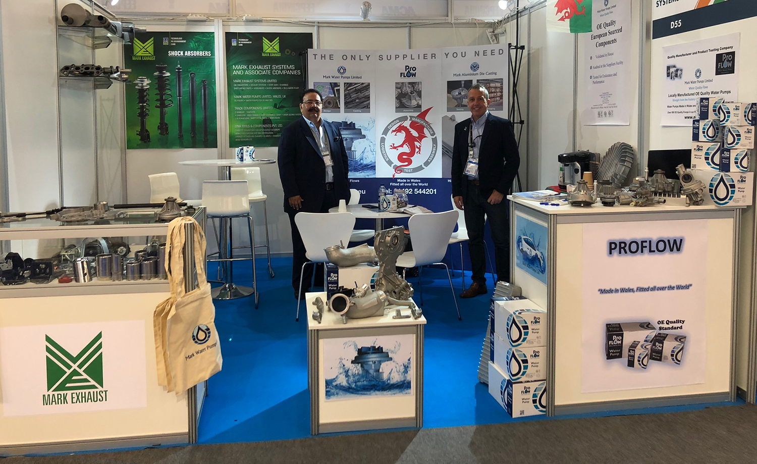 Three-way success for Mark Water Pumps at Automechanika
