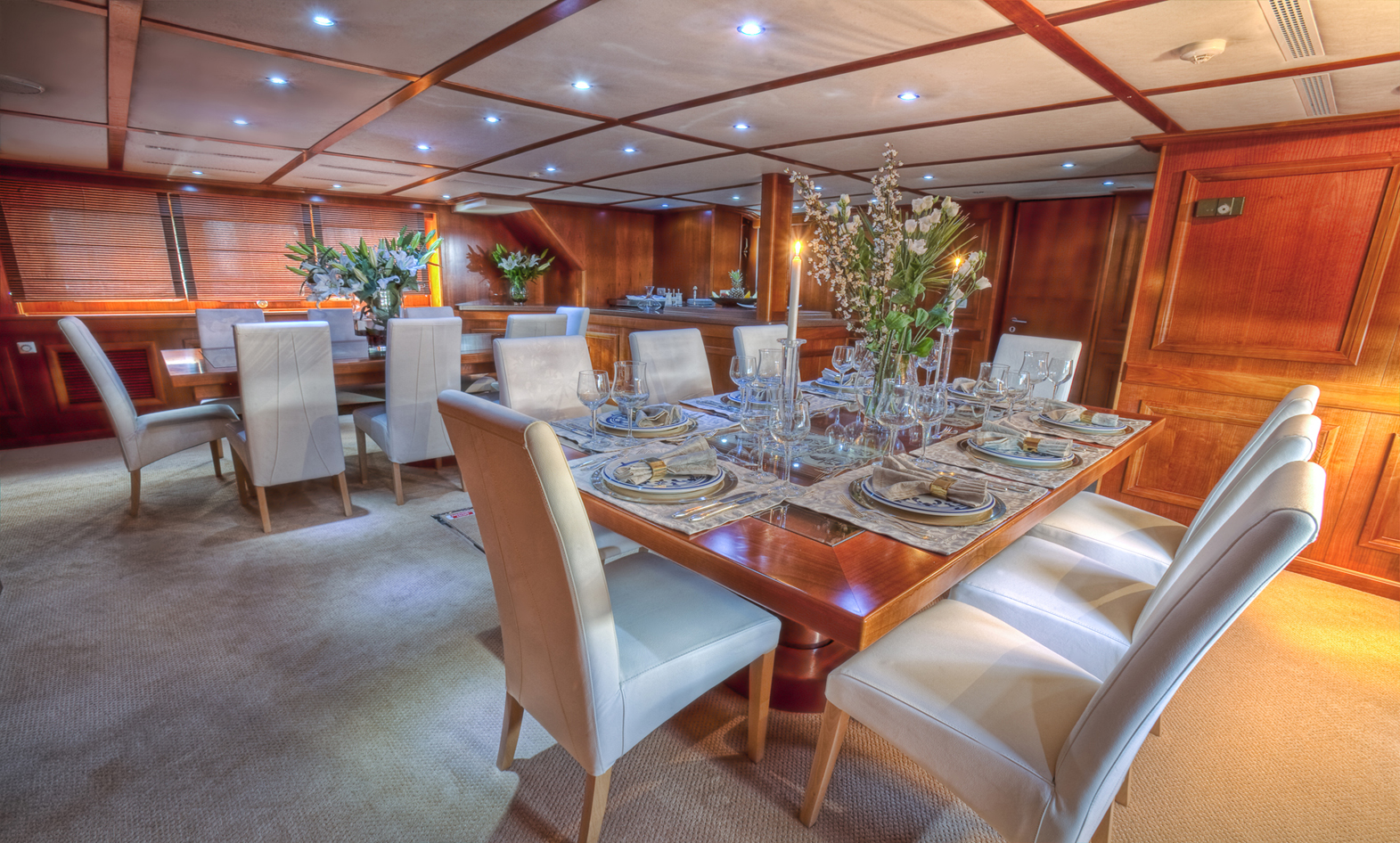 Classic luxury yacht refitted using Mitsubishi Electric drives