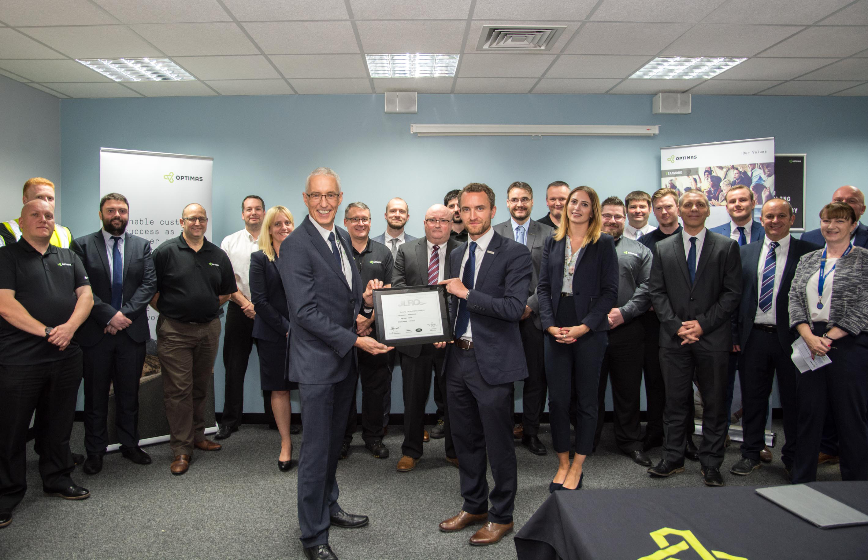 Optimas receives prestigious Jaguar Land Rover Quality award