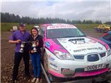 #1 British female rally driver Sara Williams claims victory at The Red Dragon Rally 2015