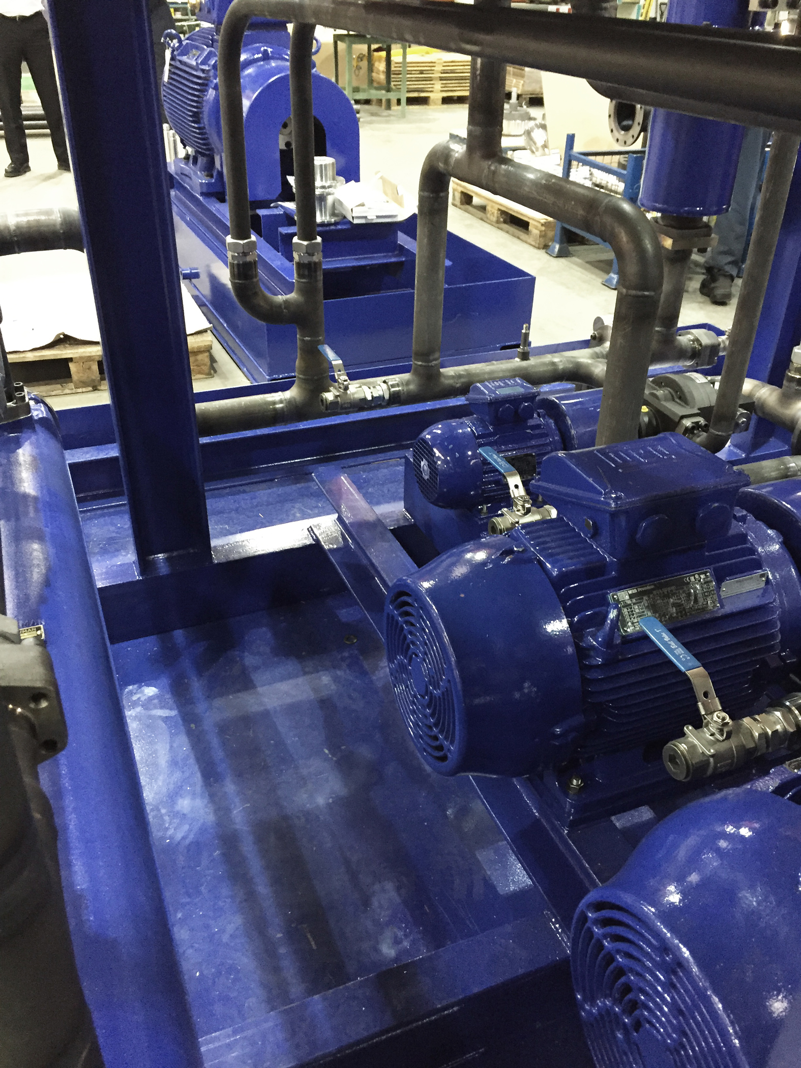 Hydraulic test rig benefits from energy efficiency as standard across WEG electric motor range