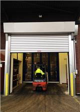 Check industrial doors' wind load capacity before winter sets in