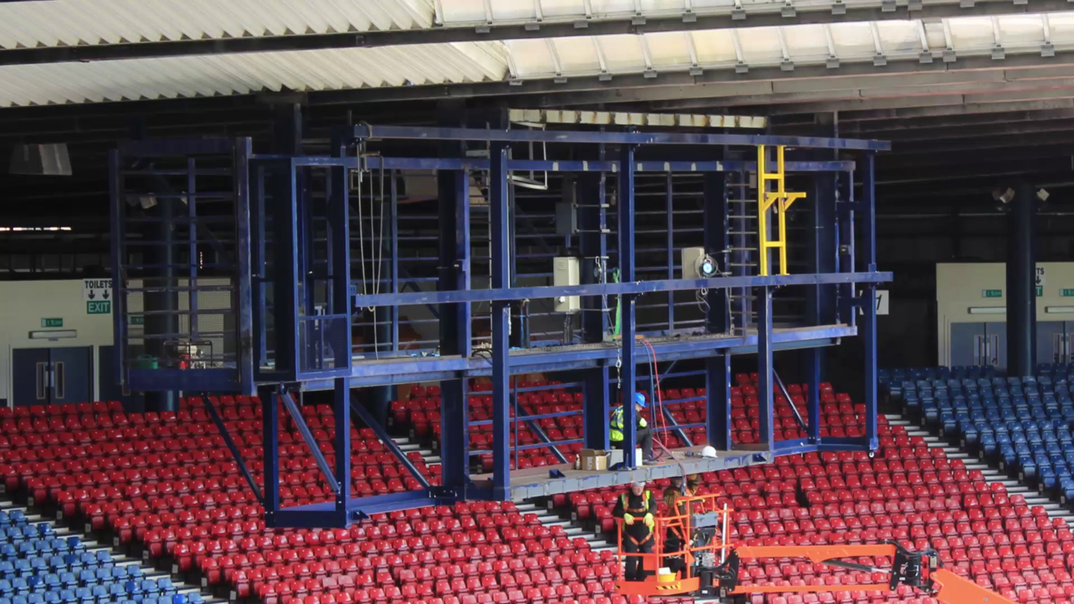 New, bigger scoreboard steel structures for Hampden Park stadium