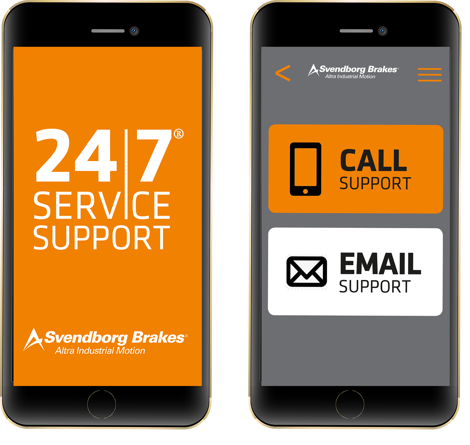 Free technical support with the Svendborg Brakes Service App anytime, anywhere