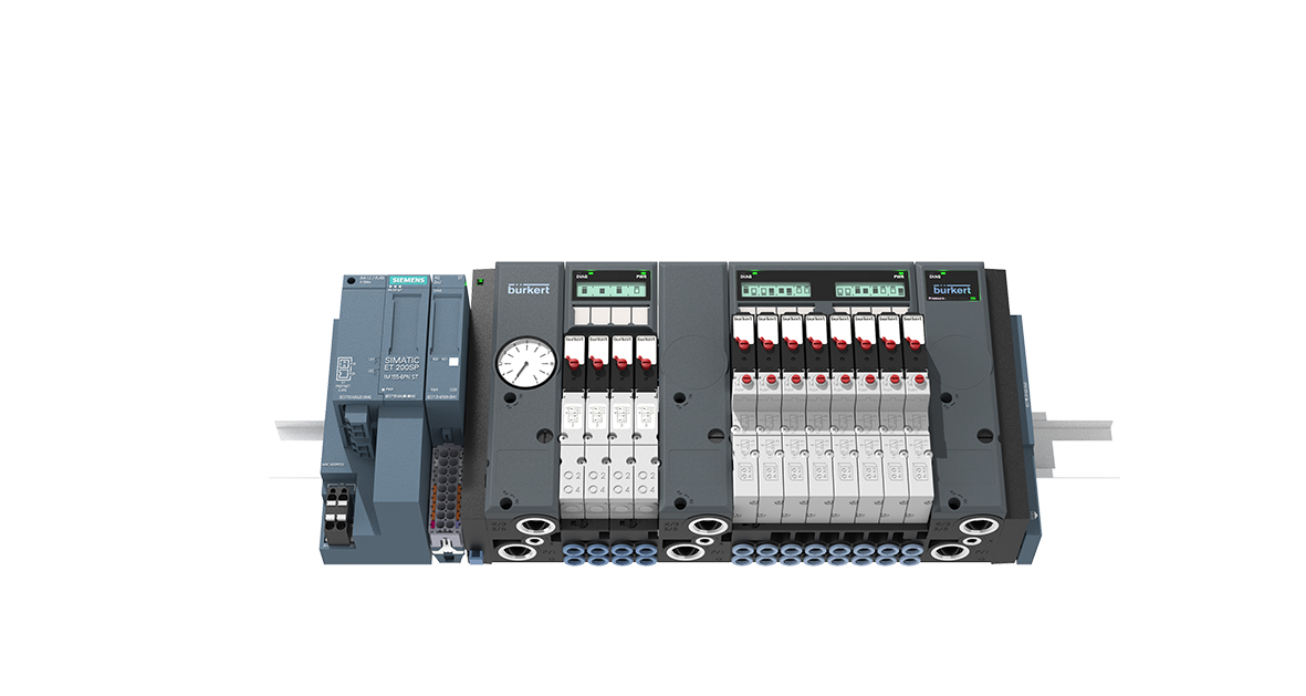New Bürkert Pneumatic Control Valve Island interfaces directly with Siemens ET 200SP