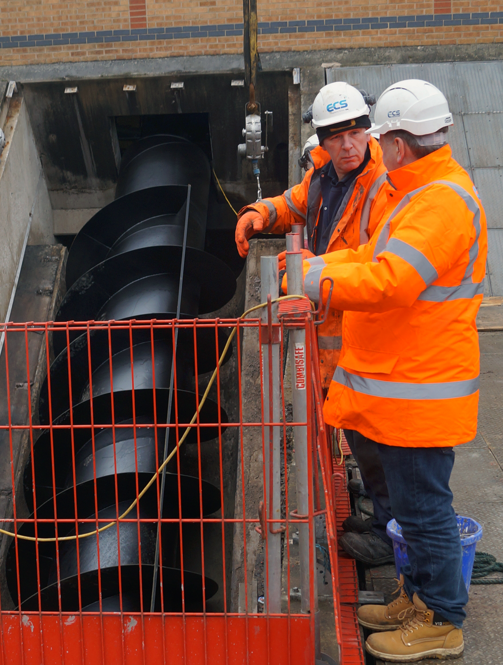 New Mansfield Archimedes Screw Pumps boost local water infrastructure