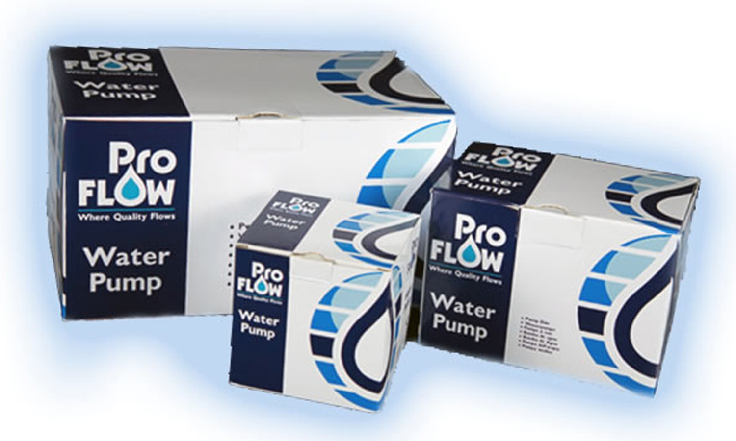 "OEM ""PROFLOW"" water pumps support premium cars from factory to aftermarket"