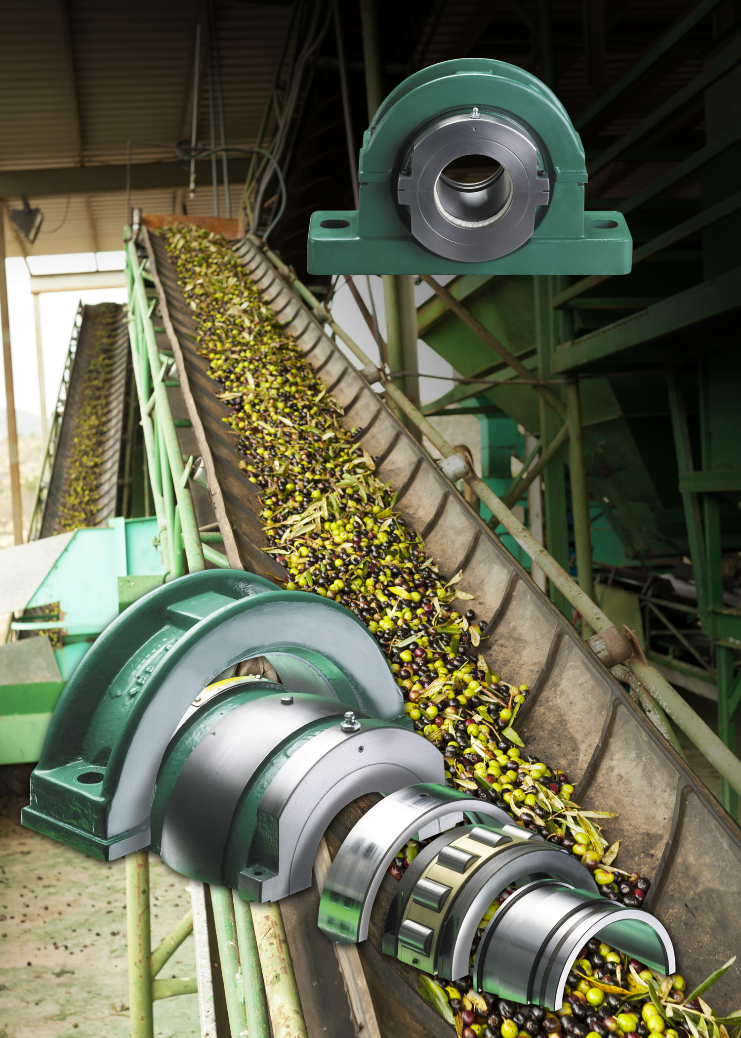 Revolvo's SRB split roller bearings cut the cost of bearing downtime for food processors & manufacturers.....