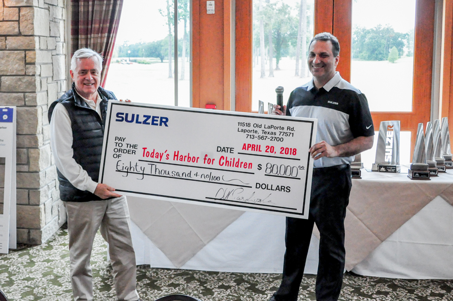 31st annual golf tournament raises USD 80'000 for children's charity