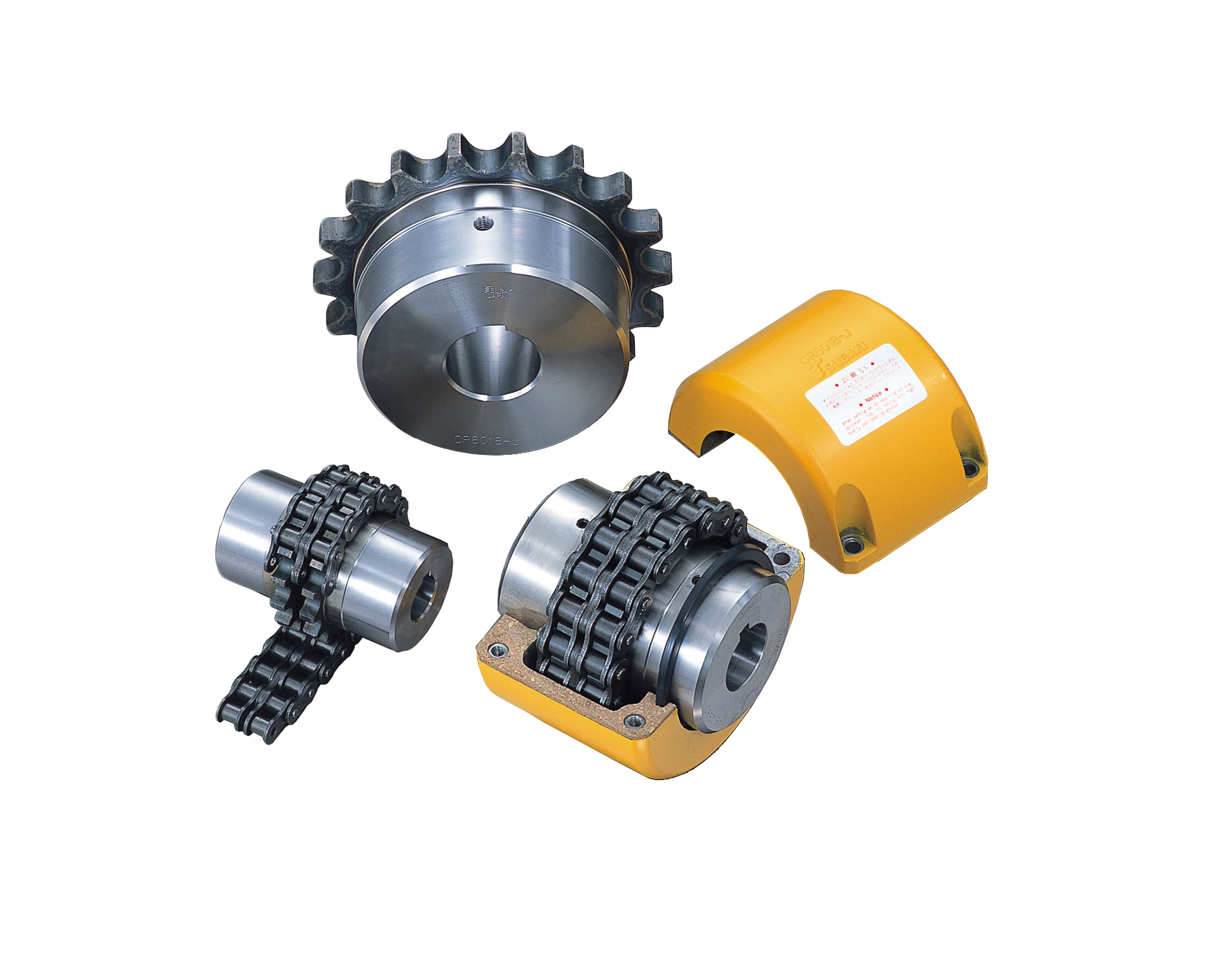 New compact Flexible Chain Couplings from Tsubaki are available with nylon and steel chain
