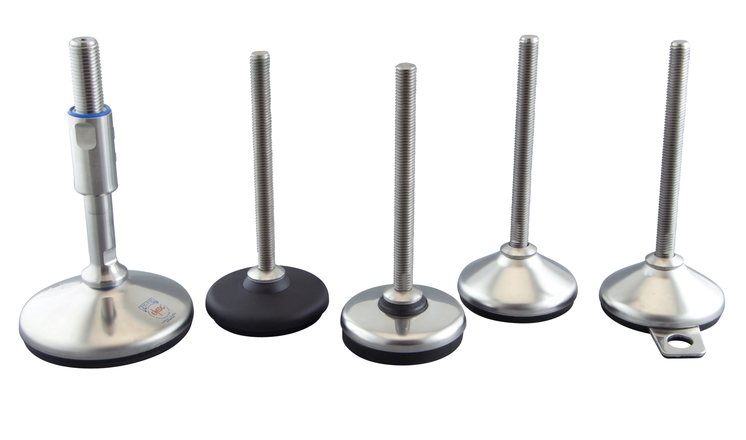 WDS extend levelling feet portfolio with stainless steel options