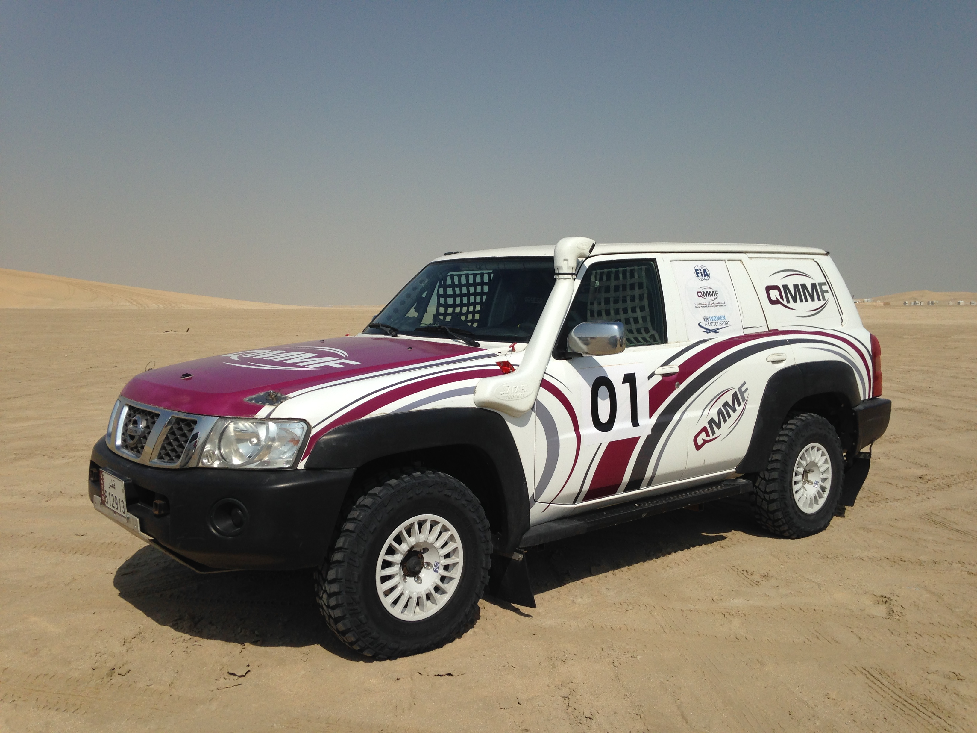 Sara Williams returns from Qatar Cross Country Rally project