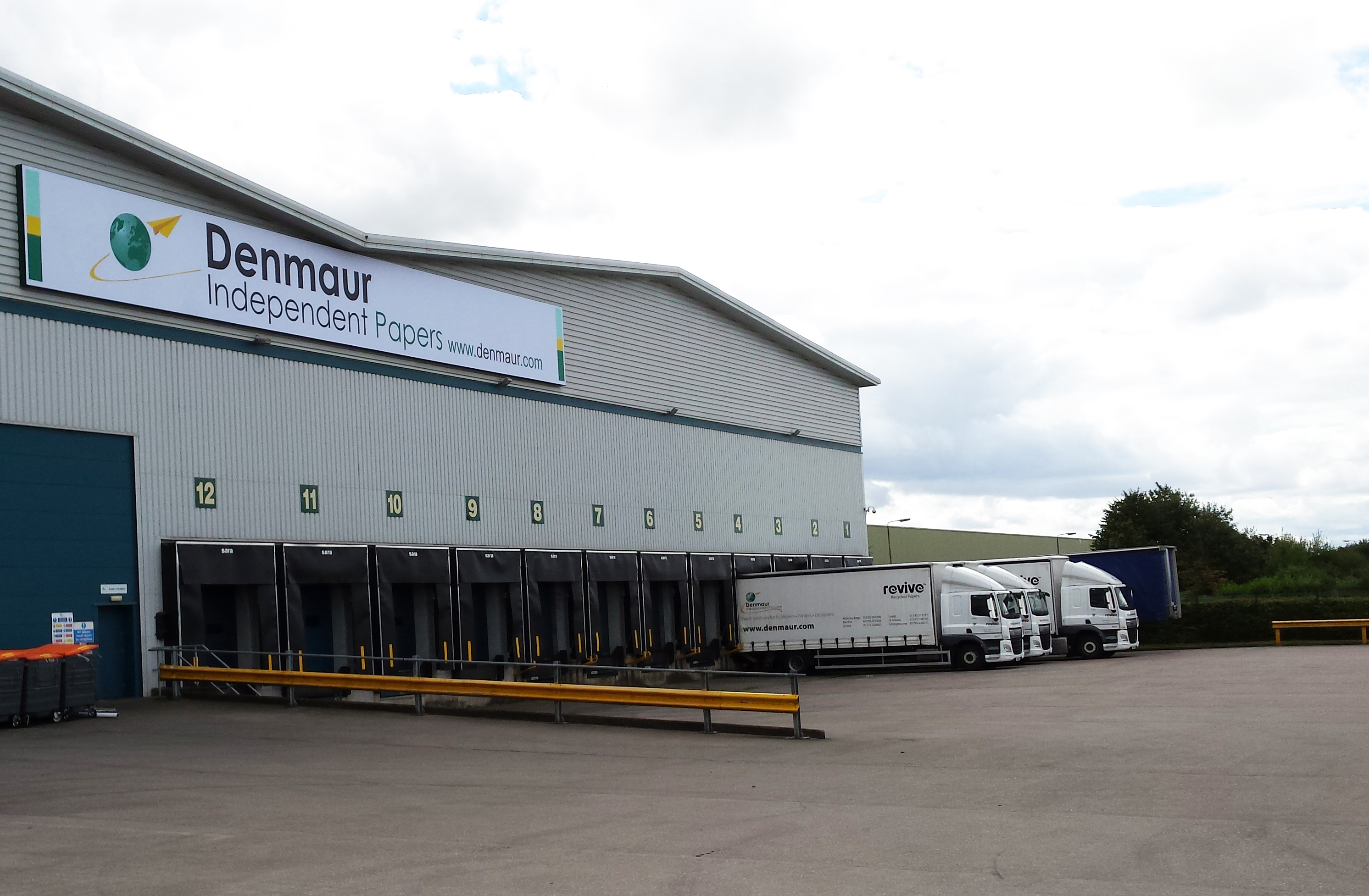 Busy paper merchant creating state of the art warehouse with 12 new dock shelters