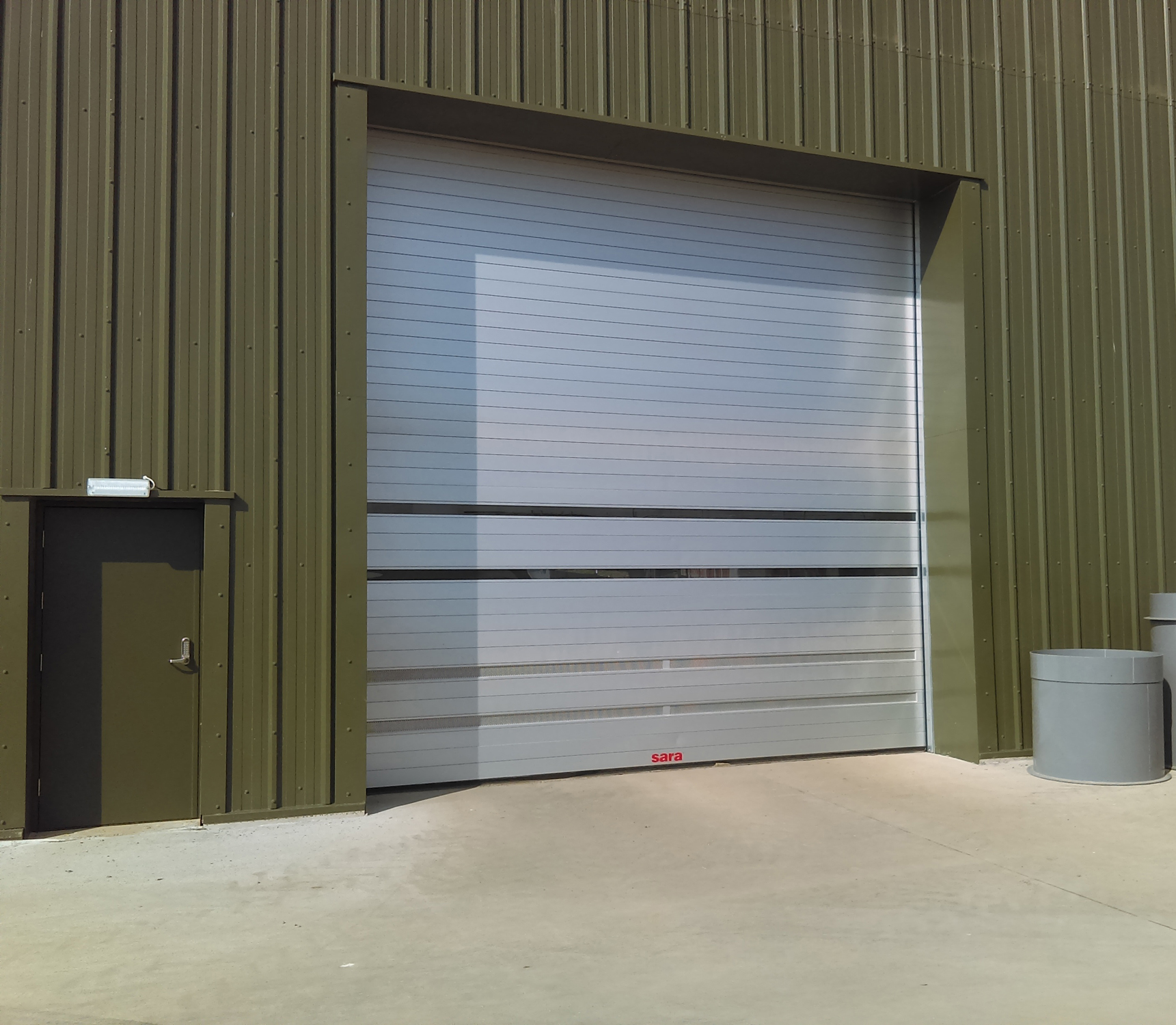 High speed doors start energy from food waste processes