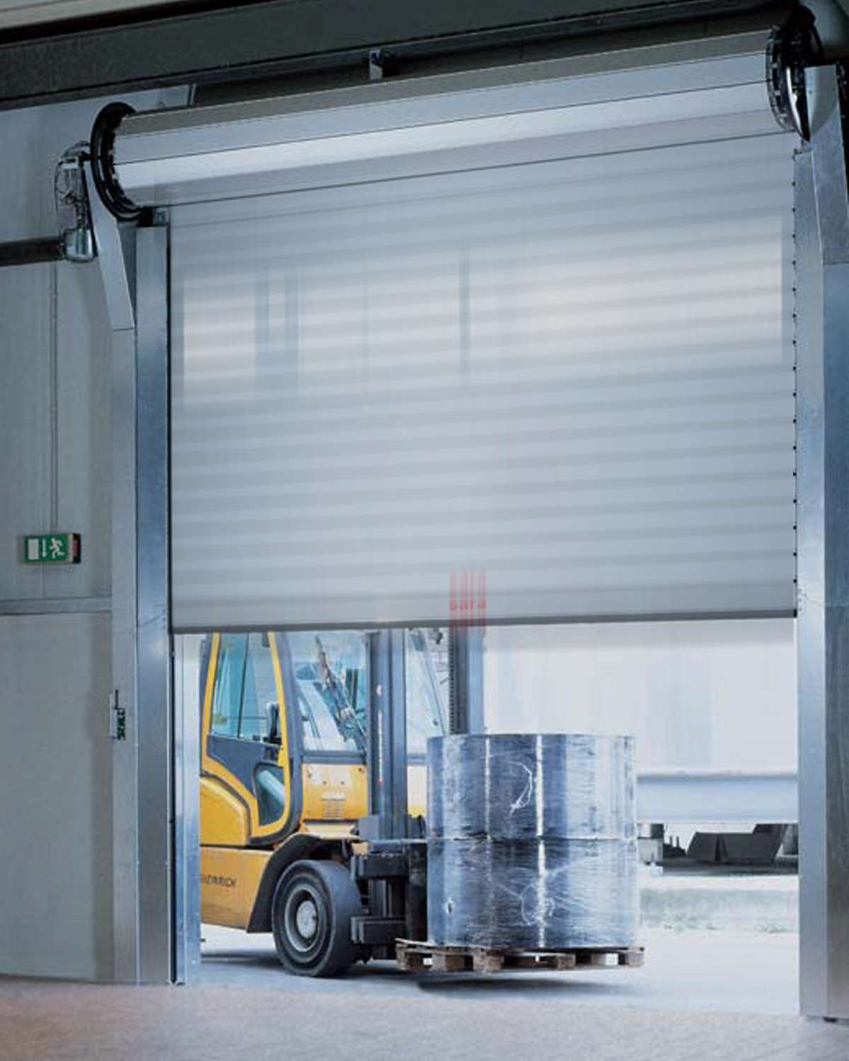 Improving energy saving and efficiency using high speed doors