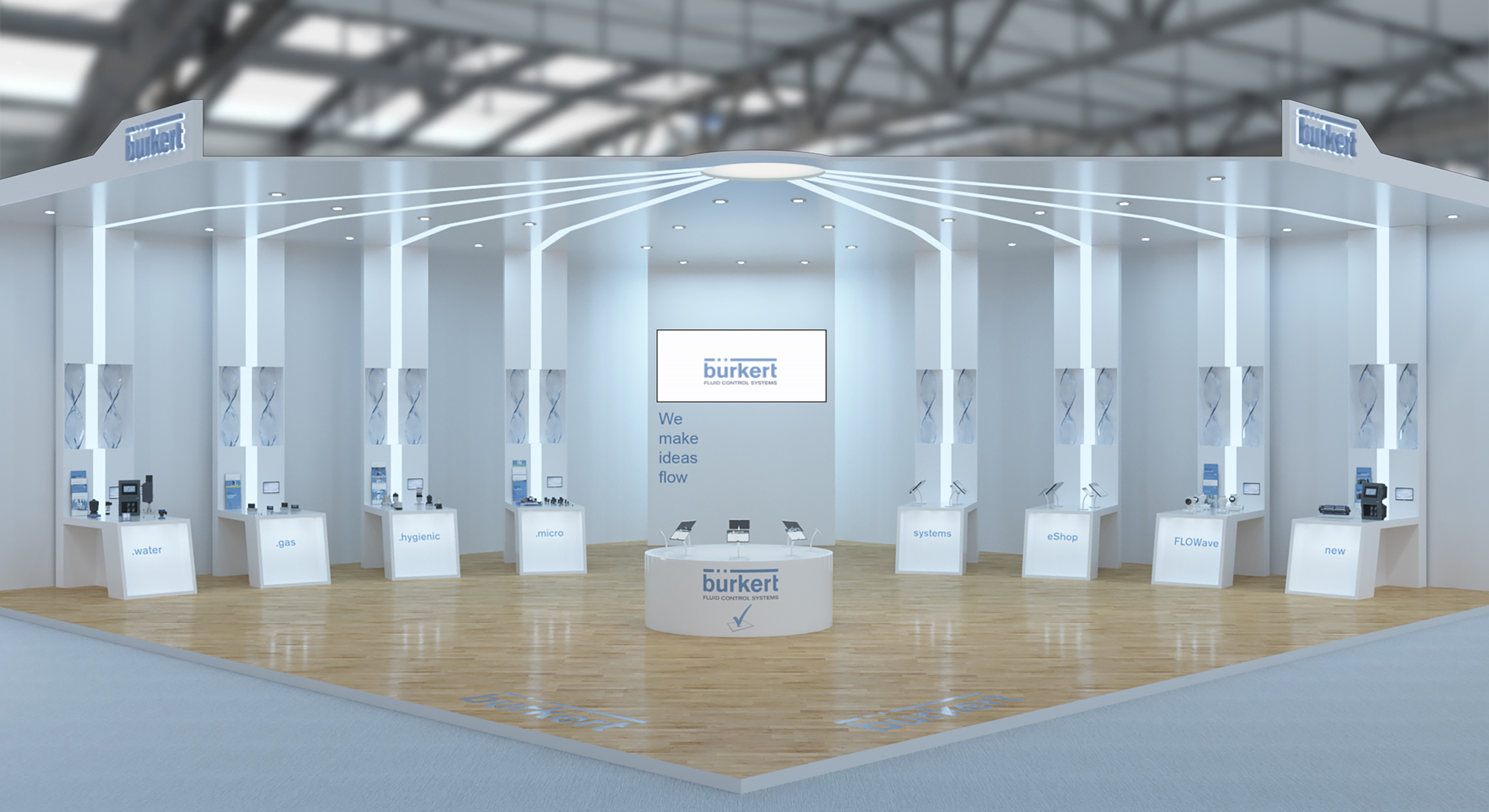 Exhibition Stand Website : Bürkert virtual exhibition stand offers web and vr visitor experience