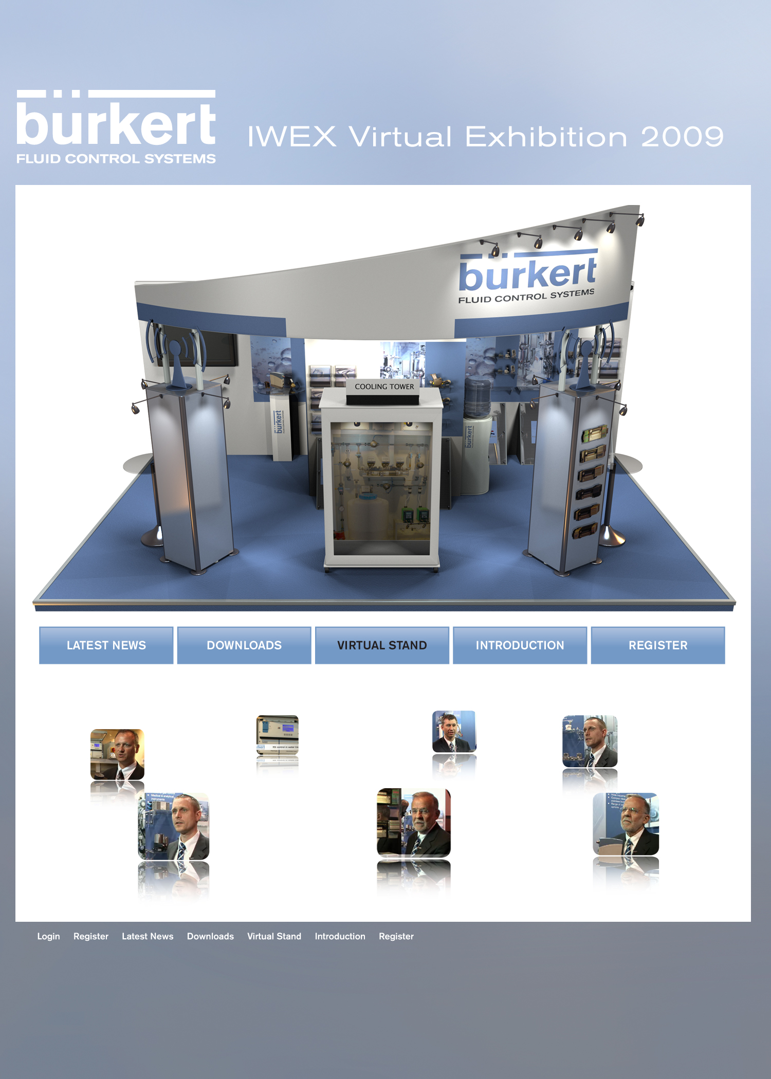 Virtual Exhibition Stand : Use a virtual exhibition stand to capture visitors between