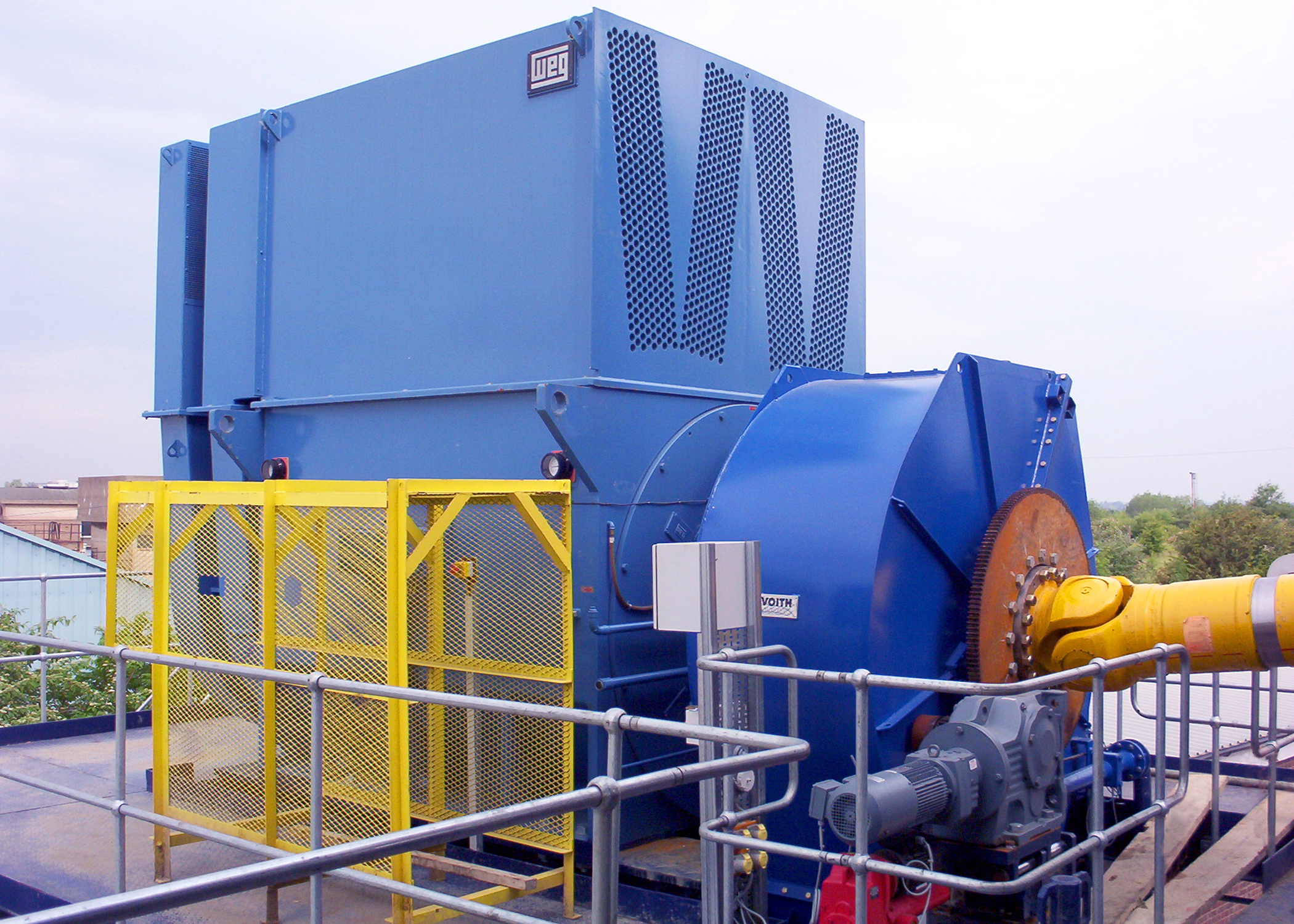 Powering the world s largest industrial shredder for Used industrial electric motors