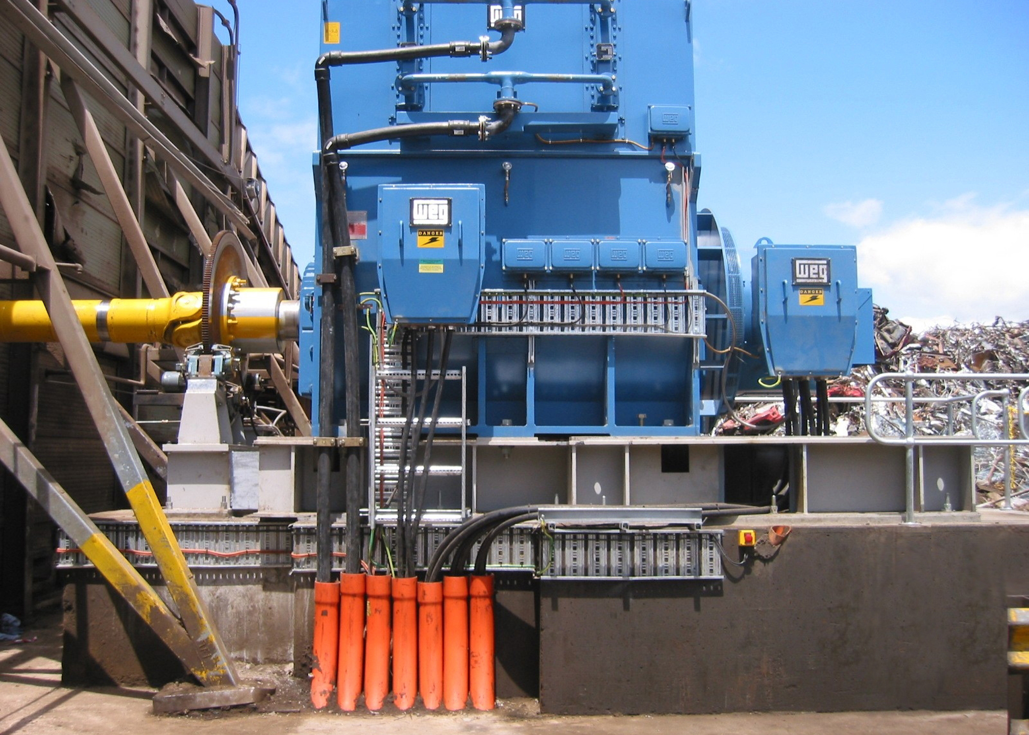 Powering The World S Largest Industrial Shredder